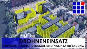 KANIT GÜVENLİĞİ için dronların kullanımı - anıt koruması ve komşu binalar.