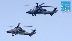 AMAZING 2X EUROCOPTER EC-665 TIGER AIRBUS GROUP FORMATION AIRSHOW FLIGHT
