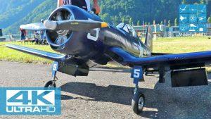 F4U-4 CORSAIR RC WARBIRD 1 : 5,5 PER HOLMEN (NOR) F4 SCALE WORLD CHAMPIONSHIP MEIRINGEN [4K]