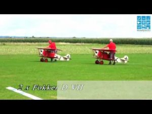 2X XXL FOKKER D.VII RC SCALE OLDTIMER MODEL HORST KEUL & GREGOR TREML