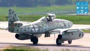 MESSERSCHMITT ME 262 (పూర్తి పరిమాణం) EADS DEUTSCHLAND GMBH JET AIRSHOW FLIGHT ILA BERLIN AIR SHOW