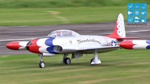 AMAZING T-33 XXL RC TURBINE JET THOMAS HÖCHSMANN GERMAN CHAMPIONSHIP 20 KG SCALE CLASS