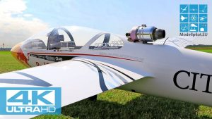 MDM-1 FOX 1: 2 PARITECH RC SCALE TURBINE GLIDER AEROBATIC FLIGHT PILOT PHILIPPE GEY [4K]