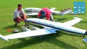 2 X RC GIGANT SUPER CONSTELLATION RAINER STROBEL & ALEXANDER OBOLONSKY EUROFLUGTAG AERO CLUB RHEIDT