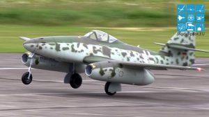 "GIGANT MESSERSCHMITT ME 262 ""SCHWALBE"" RC TURBINE 20 KG SCALE CLASS pailate Thomas Gleissner"