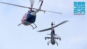 매우 굉장한 BELL AH-1 COBRA & MBB BO 105 CB THE FLYING BULLS AIRSHOW SHOWFLIHGHT