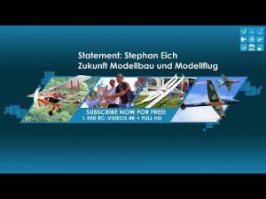 Deklarata: Stephan Eich - E ardhmja: Bërja e modelit dhe modeli fluturues, me rastin e falimentimit të Graupner.
