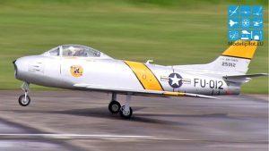 F-86 HEIKO GÄRTNER RC TURBINE JET CAMPEONATO ALEMÃO DE ESCALA DE 13,5 KG