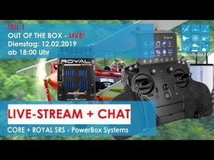 "Sender CORE + ROYAL SRS PowerBox Systems PART 1 - ""LIVE"" - OUT OF THE BOX + CHAT"