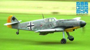 INCRÍVEL 2X XXXL BF 109 G-6 (ME 109) RC WARBIRD MARCO LUDORF & ROLAND SABATCHUS DEMO FLIGHT