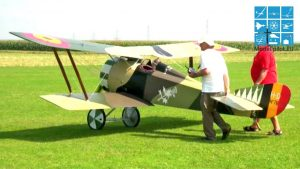 XXXL Biplane HANRIOT HD.1 RC VINTAGE CAR FIGHTER AIRCRAFT IAN TURNEY-NYEUPE