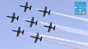 L-39C ALBATROS BREITLING JET TEAM FORMATION FORMATION AEROBATIC AIRSHOW TITJIRA ILA BERLIN AIR SHOW