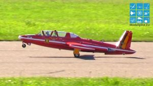 놀라운 FOUGA MAGISTER PHILIP AVONDS TEAM BELGIUM RC 터빈 제트 경쟁 비행 (13,5KG) 제트 WM