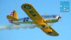 RUNJUNG YPT-16 50% 1: 2 FRANZ KAYSER RC AEROBATIC SMOKE FLOKE EUROFLUGTAG AERO CLUB RHEIDT