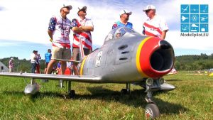 F-86 SABER SCOTT HARRIS TEAM USA RC TURBINE JET 3RD ỌR FL EGO (20KG) JET WM