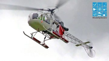RC Helikopter BIG SCALE LAMA SA 315-B RC MODEL HELICOPTER FLIGHT BVM BERLIN RAGOW HIMMELFAHRTSFETE