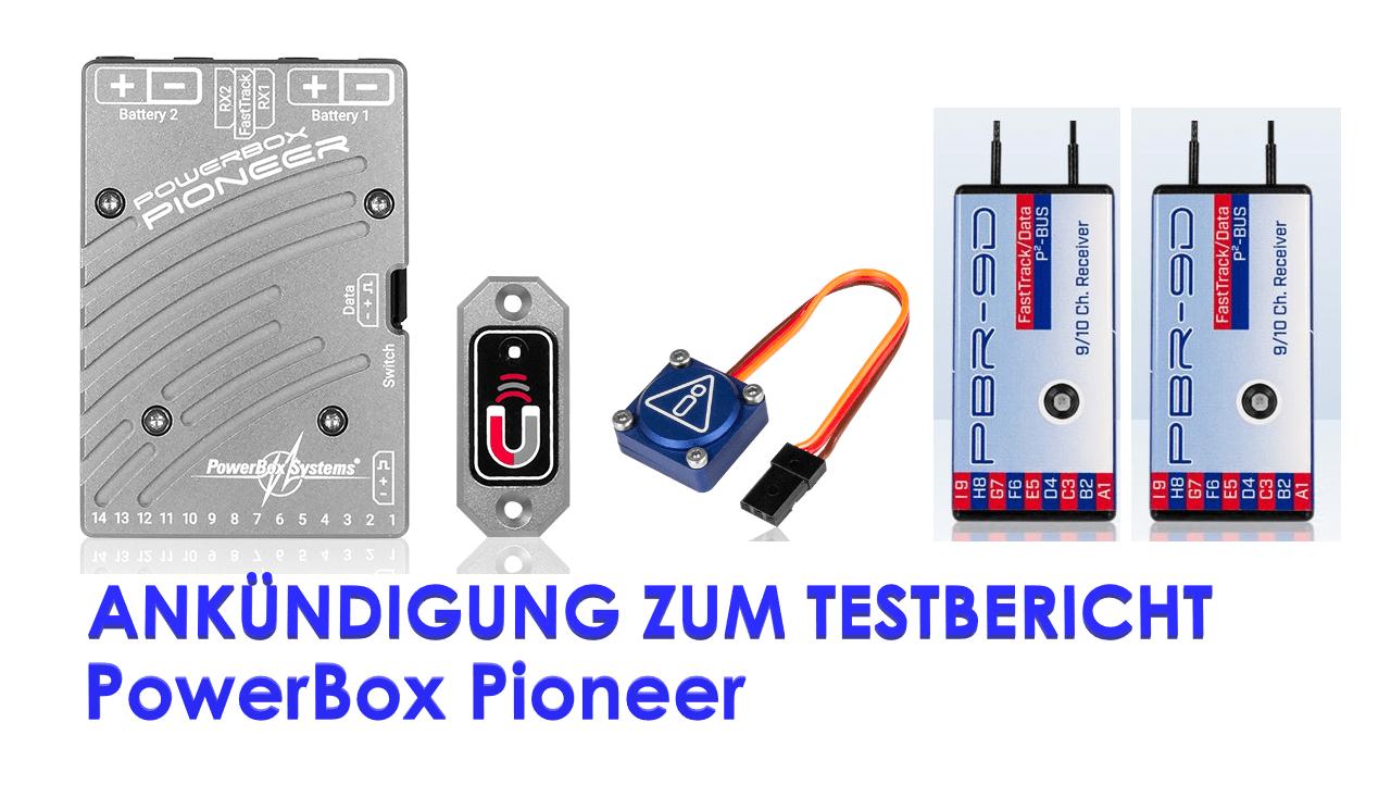 گزارش تست اعلامیه PowerBox Pioneer با گیرنده های iGyro و 2 x PBR-26D