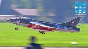 HAWKER HUNTER MK58A PASCAL THOMA TEAM SWITZERLAND RC JET Idije Flight