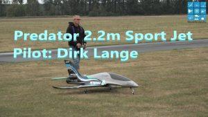 Roofdier 2.2 m Sport Jet Pilot Dirk Lange Demo-vlug